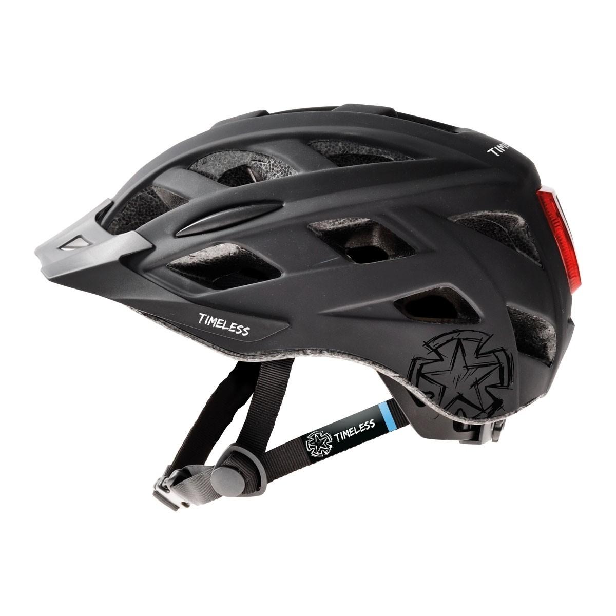 Pyöräilykypärä TIMELESS Fox, musta/harmaa M, 54-59, valo ja säätöpanta
