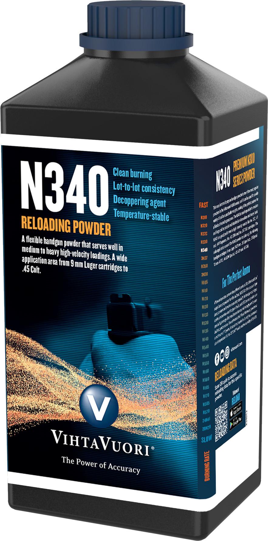 Vihtavuori N340 ruuti, 0,5 kg purkki