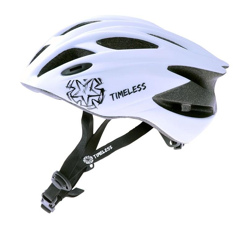 Pyöräilykypärä TIMELESS Rider, mattavalkoinen M, 52-58, säätöpanta