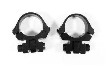 """Optilock täydellinen pienoiskiväärin rengasjalka 1"""", 11mm kiskoon, alumiini"""