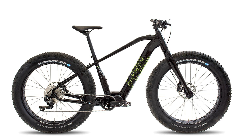 """Helkama FE11 e-Fatbike 26"""" 11v, 20"""" rungolla, musta/vihreä"""