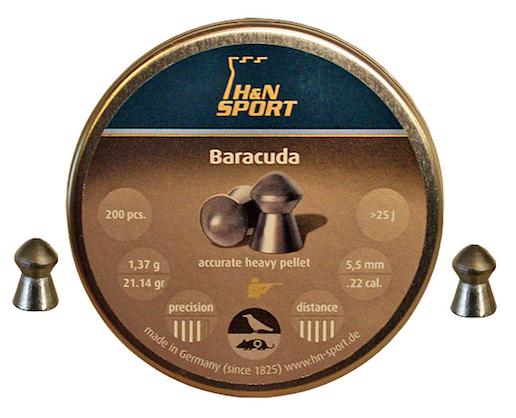 H&N Baracuda 5,5 mm 1,37g 200 kpl/ras