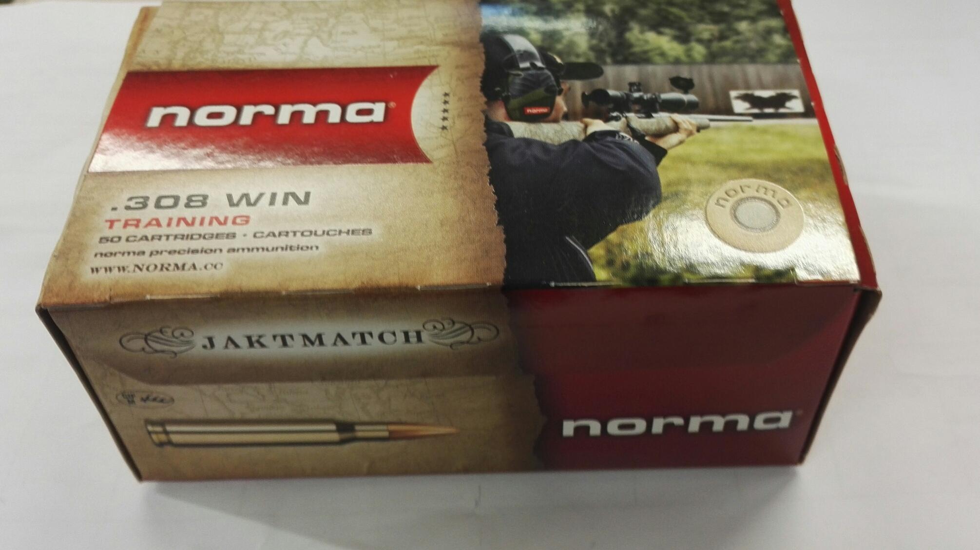 Norma Jaktmatch .308 Win. 9,7g/150 FMJ 50 kpl / ras