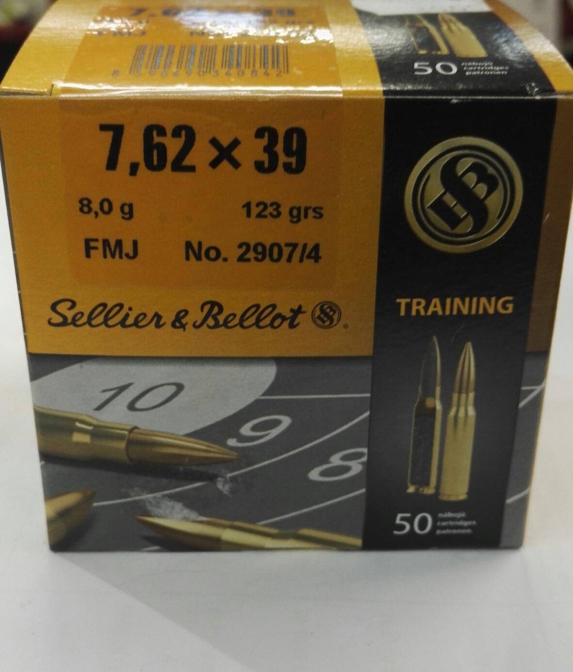 Sellier & Bellot 7.62x39 8 g / 123 gr
