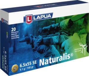 Lapua Naturalis 6.5x55 SE patruuna N563 9,1g ,20 kpl / ras