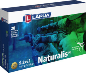 Lapua Naturalis 9,3×62 patruuna, Naturalis LR N560, 16,2 g, 20 kpl/ras