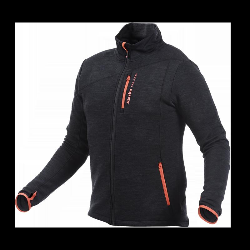 Alaska Merino -miesten takki, Black/Orange