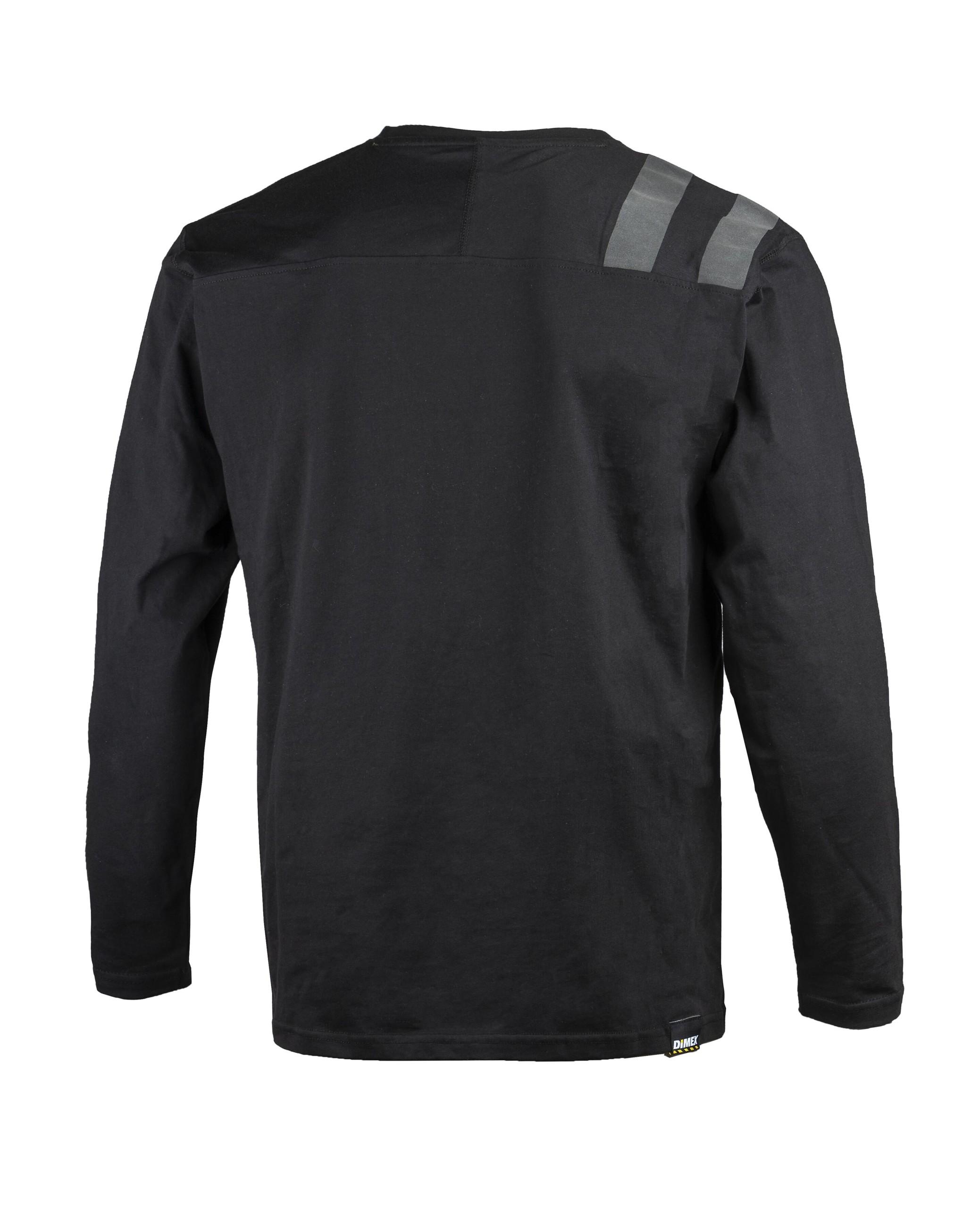 Dimex musta Pitkähihainen t-paita 4363+