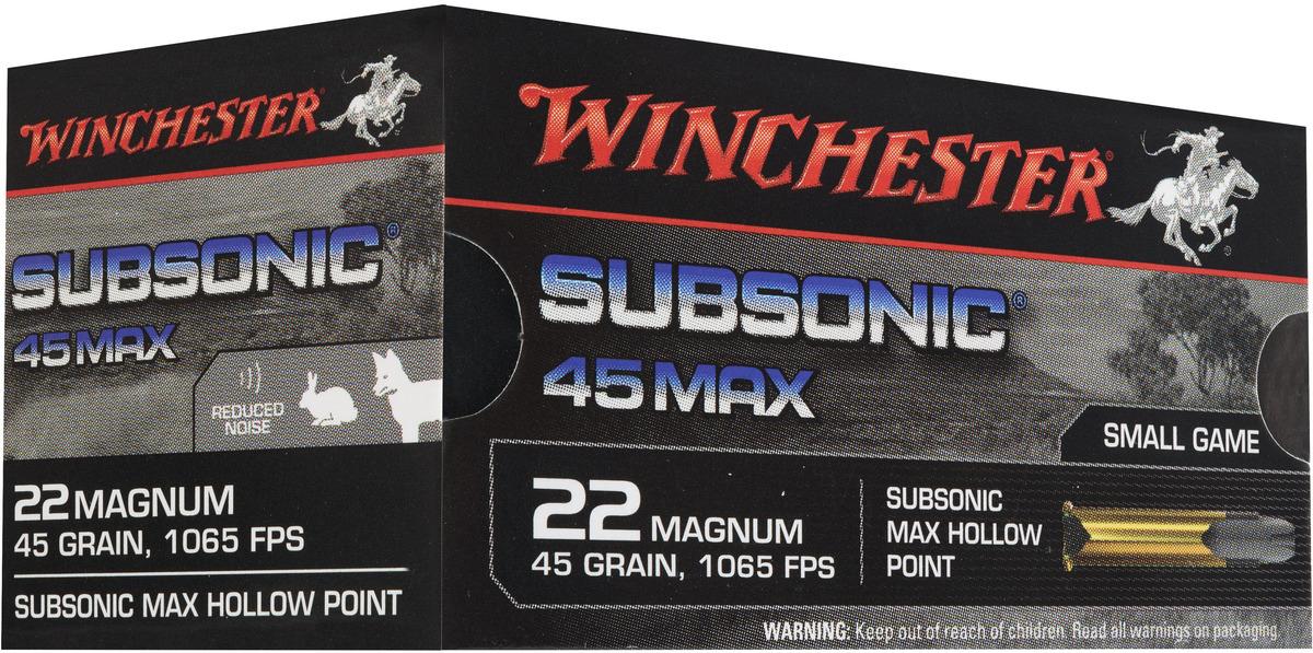 Winchester Subsonic 22WMR HP 2.7g/45gr 50 kpl / ras