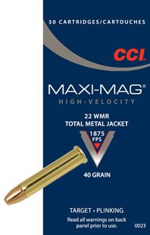 CCI Maxi-Mag 22 WMR JHP 2,60g 50 kpl/ras
