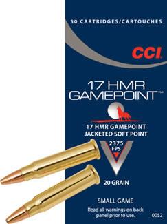 CCI 17 HMR Gamepoint JSP 724m/s, 50 kpl / ras