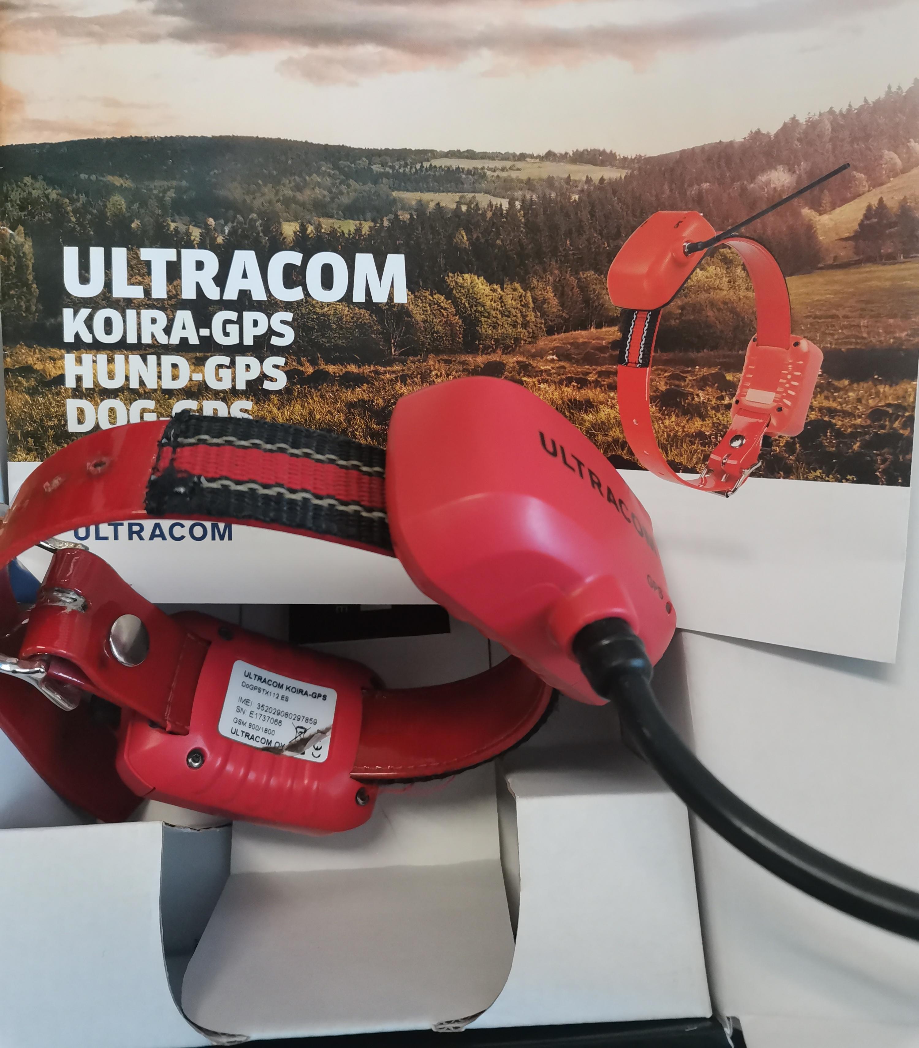 Ultracom koira-gps lyhyt 2-akun, käytetty