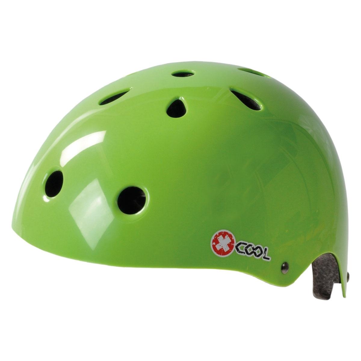 Pyöräilykypärä x-cool bmx, vihreä 48-54 säätöpannalla