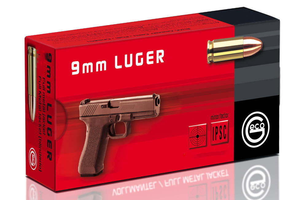 Pistoolinpatruuna Geco 9mm Luger FMJ 8g 50 kpl / ras