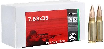 Kiväärinpatruuna Geco 7.62x39 FMJ 8g 50 kpl / ras