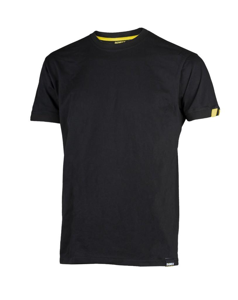 Dimex Musta lyhythihainen t-paita 4361+