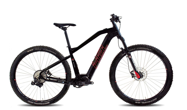"""Helkama XE10 e-Bike 10v 17"""" runko, musta/punainen"""