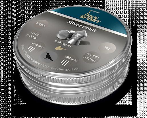 H&N Silver point 4,5mm 0,75g, 500 kpl/ras