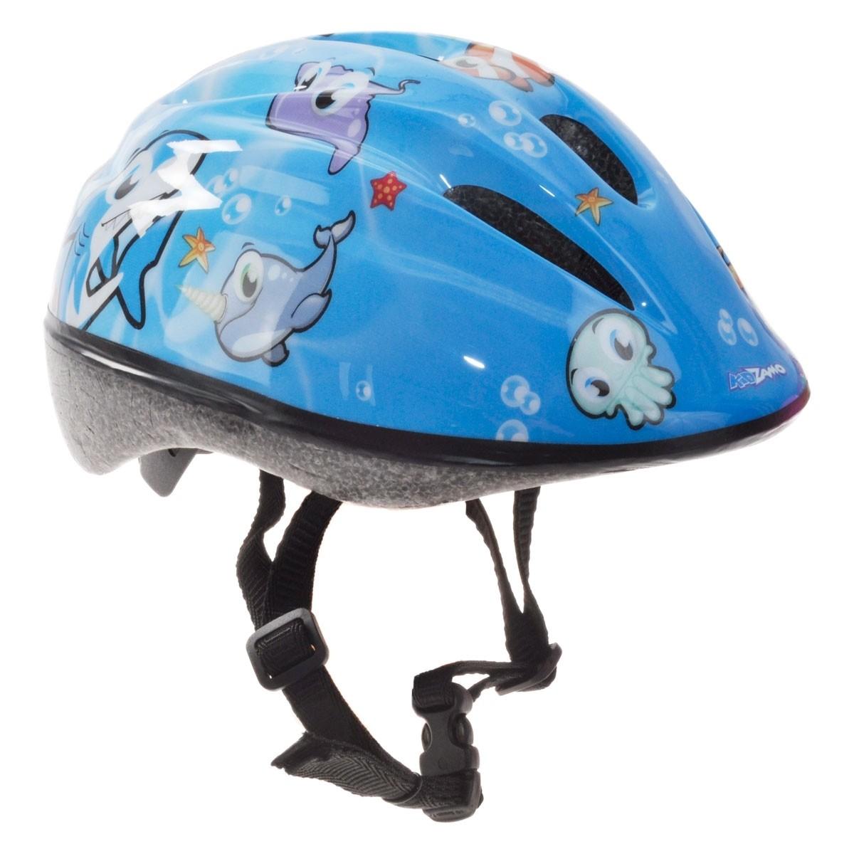 Pyöräilykypärä KIDZAMO Sailor Jr, 46-53, sininen